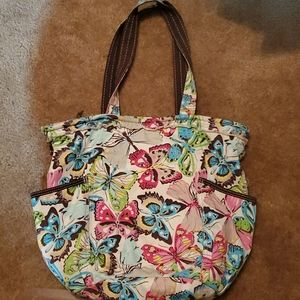 Thirty one retro metro canvas tote floral